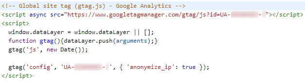 Aangepaste Google Analytics trackingcode